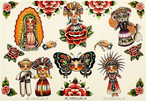 mexican art tattoos mexican dolls flash by alejandra l manriquez