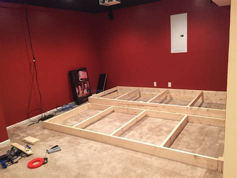 how to build a home theater seating platform best home