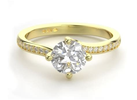the 4 claw twist engagement ring setting steven