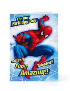 spider man birthday card sayings www imagesbuddy com