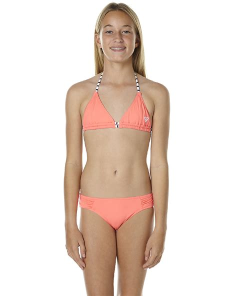 Roxy Kids Girls Japanese Fan Tiki Tri Set   Neon