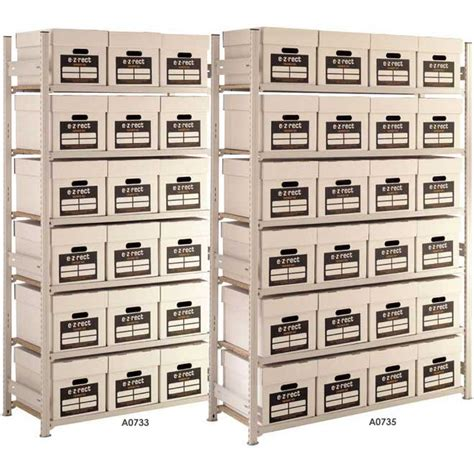 lightweight bookshelves lightweight archive storage shelving 6 boxes high ese direct