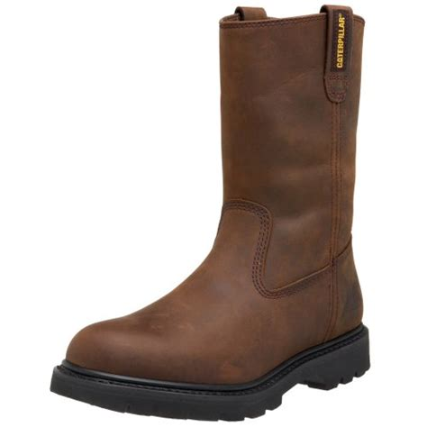 comfort shoes wellington mall caterpillar men s revolver pull on soft toe boot