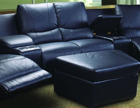 theatres with recliners black leatherette home theater sectional w motorized recliners