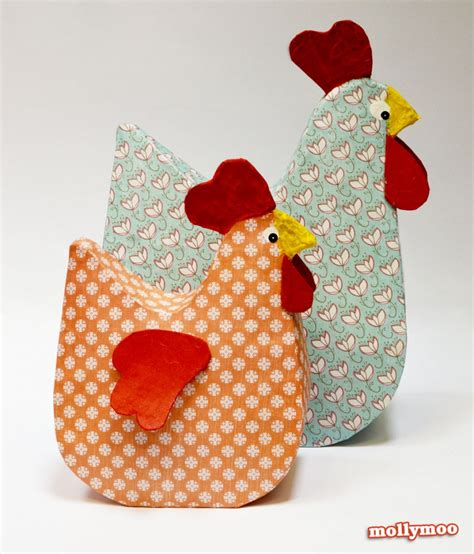 Crafts Paper Mache - mollymoocrafts papier mache hens mollymoocrafts