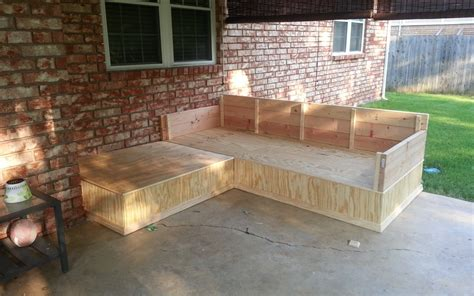 Build Outdoor Sectional by Diy Outdoor Sectional With Storage Tedx Decors The