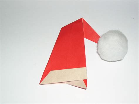 How To Make An Origami Santa Hat - origami hats tag hats