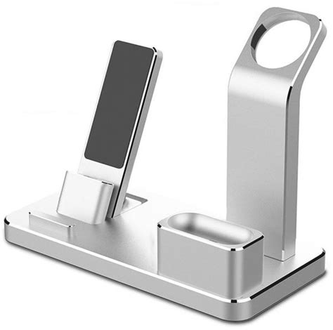 4 in 1 apple stand aluminum charging stand for iwatch airpods charging docks holder for
