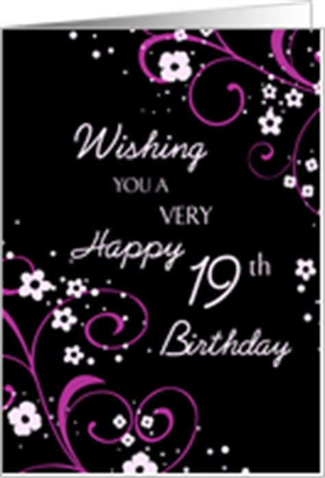 Happy 19th Birthday Wishes Happy 19th Birthday Quotes Quotesgram