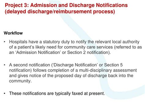 section 2 hospital discharge ppt london secure email projects powerpoint presentation
