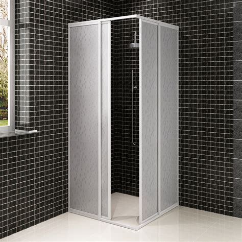 bath size shower enclosures new shower cabin enclosure pp board bathroom universal aluminium frame 3 sizes ebay