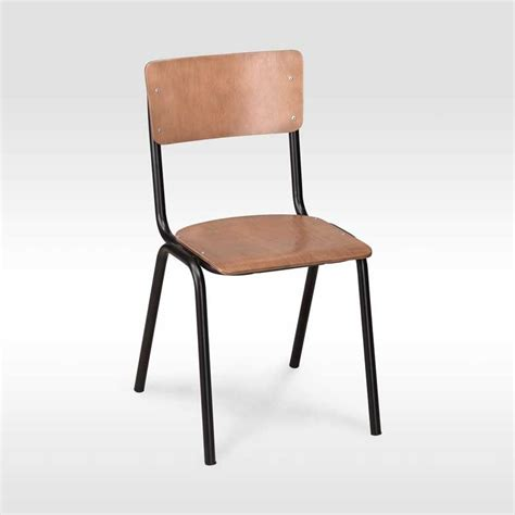 Authentic stacking school chair still produced by the original school chair supplier with matt