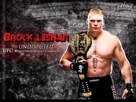 theme song ufc brock lesnar ufc theme song shout at the devil youtube