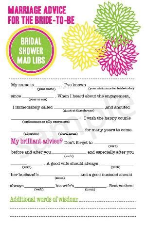 new diy printable themed wedding mad libs by kreativecupcake 15 00
