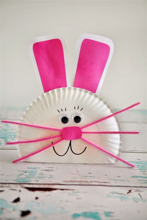 Paper Plate Bunny Craft - easter bunny ideas eighteen25