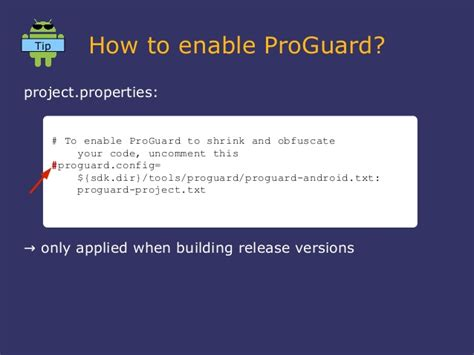 android proguard droidcon2013 pro guard optimizer and obfuscator in the android sdk e