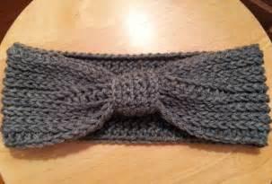 crochet from j ribbed bow ear warmer pattern