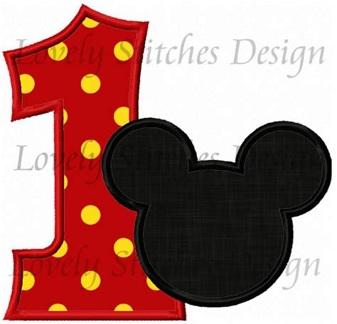 Kaos Ordinal Happy New Year Mickey mickey mouse number 1 clipart clipartxtras
