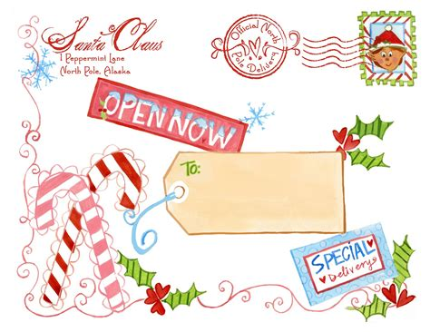 printable address labels from santa north pole notes august 2013