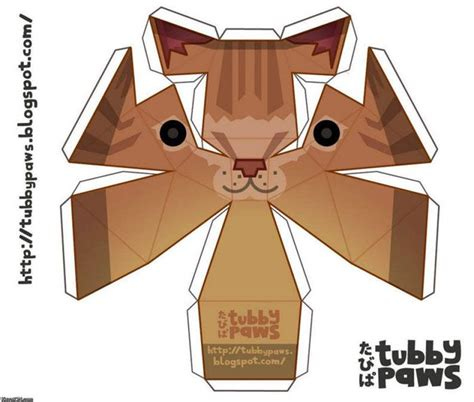 Papercraft Cat - papercraft cat pictures to pin on pinsdaddy