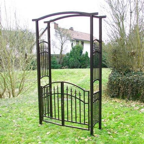 arco da giardino arco da giardino con cancello in ferro