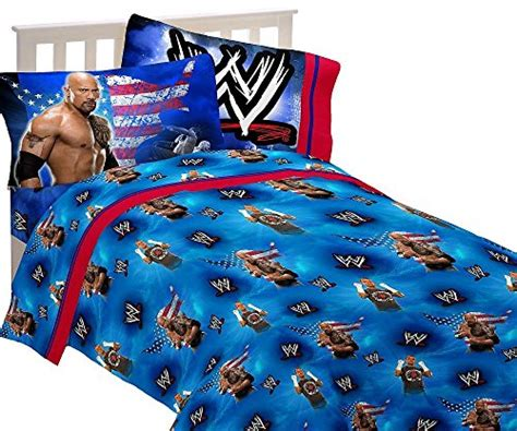 wwe twin bed set 3pc wwe wrestling twin bed sheet set the rock wrestle mania bedding in the uae see