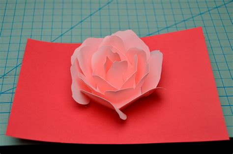 tutorial carding rose flower pop up card tutorial creative pop up cards
