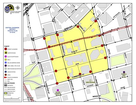 dallas texas traffic map downtown dallas traffic update dallas city news