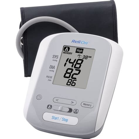 Monitor Relion blood pressure monitor relion bp200 auto inflate family
