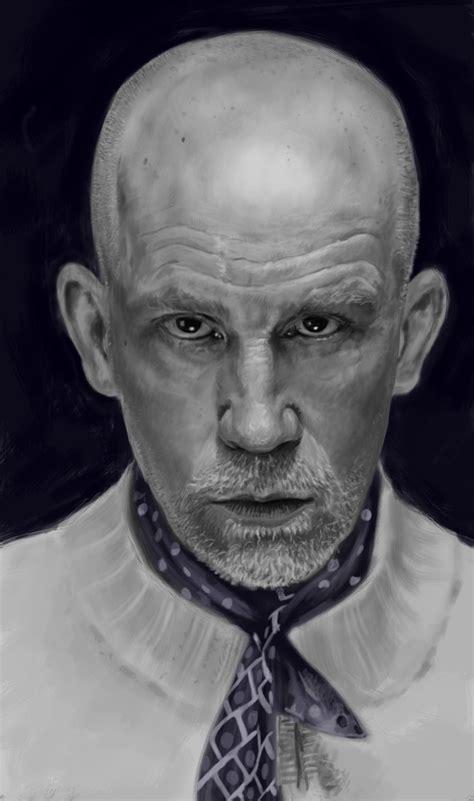 john malkovich portraits artstation portrait of john malkovich nicolas racquez