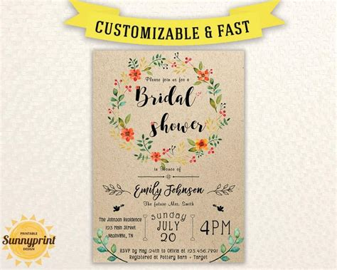 printable bridal shower invitation templates bridal shower invites bridal shower vintage bridal