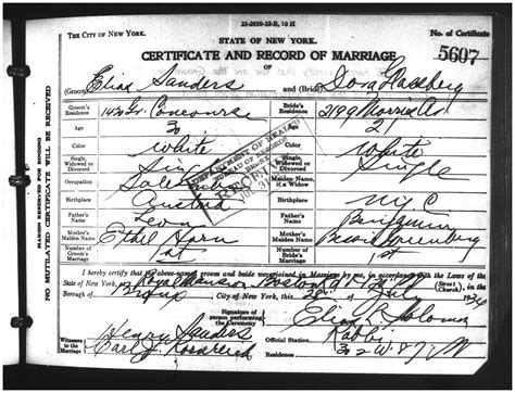 Bronx Marriage Records The Genealogist Genealogy And