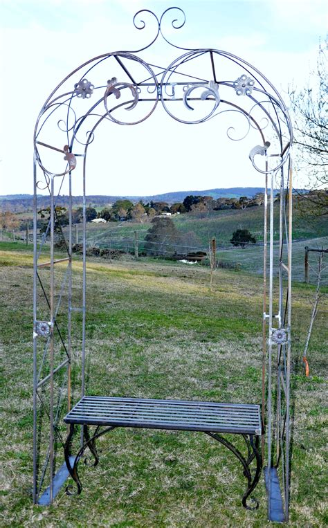 bench arch custom ornamental wrought iron garden arch farmweld