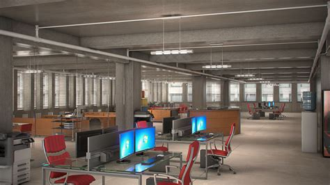 Office Space In Nyc Cgarchitect Professional 3d Architectural Visualization