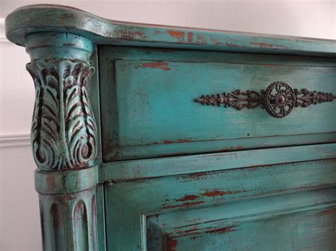 painted buffets and sideboards vintage painted country vintage turquoise