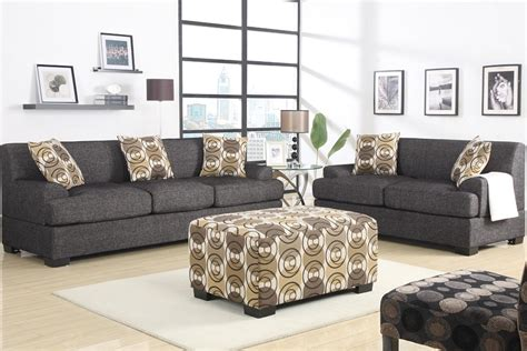 black fabric sofa and loveseat retro style sofa and loveseat set ash black fabric no