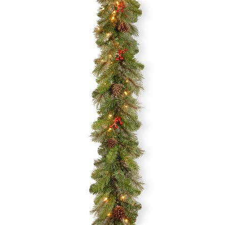 national tree company 9 ft cashmere berry garland with