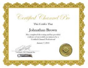 Iq Certificate Template Certified Channel Manager Chanimal Certification