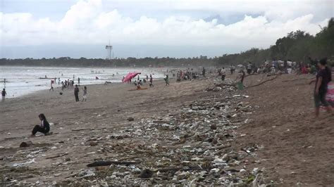 trash  kuta beach bali indonesia april   youtube