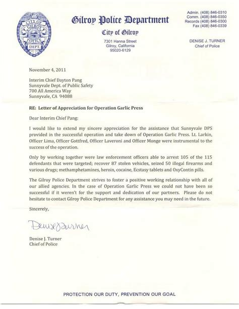 thank you letter to previous dpsdist news from sunnyvale department of safety