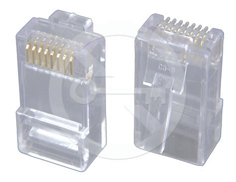 Konektor Rj45 Cat5e konektor rj45 cat5e utp 8p8c nest 237 n茆n 253 neskl 225 dan 253 na dr 225 t krj45 5sld kabelazstrukturovana cz