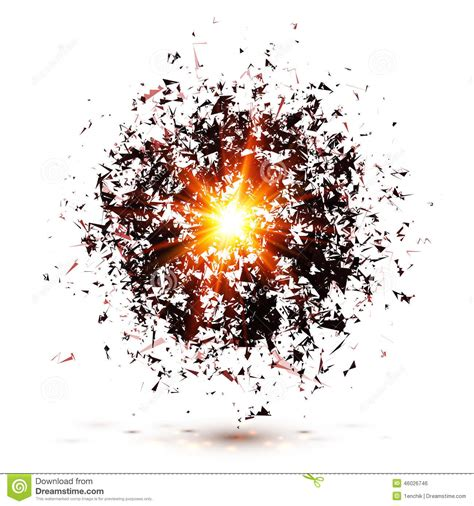 Black Explosion Isolated On White Background Stock Vector ... Explosion White Background