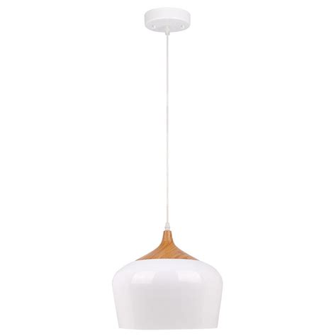 white pendant light fixture beldi urbania 1 light white and wood pendant fixture 1402