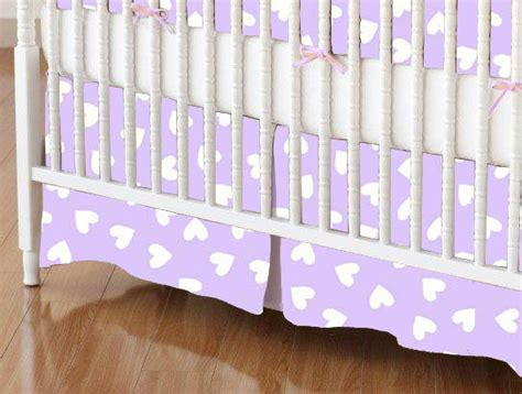 Lavender Crib Skirt by Purple Crib Skirt Dec