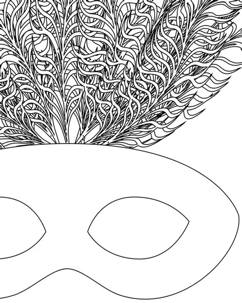 mardi gras mask coloring page coloring home