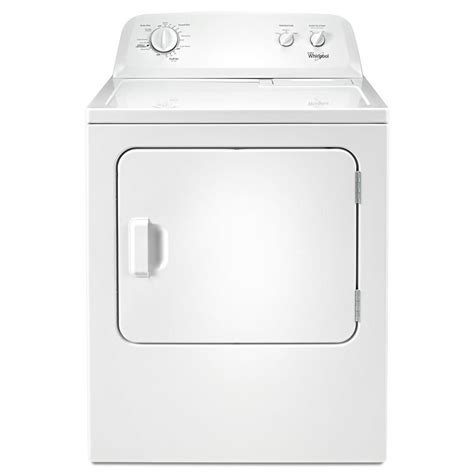 shop whirlpool 7 cu ft electric dryer white at lowes com