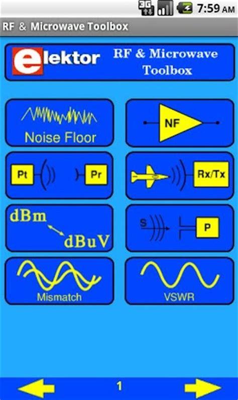 Noise Floor Calculator elektor rf microwave app for android circuit cellar