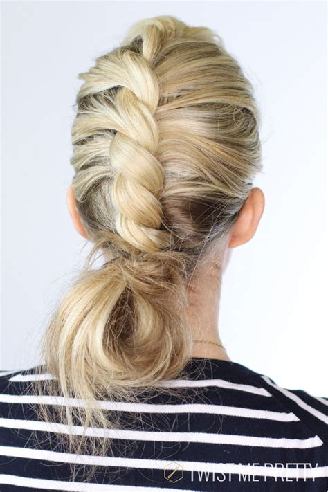 how to do off center hair center twist bun day 2 twist me pretty