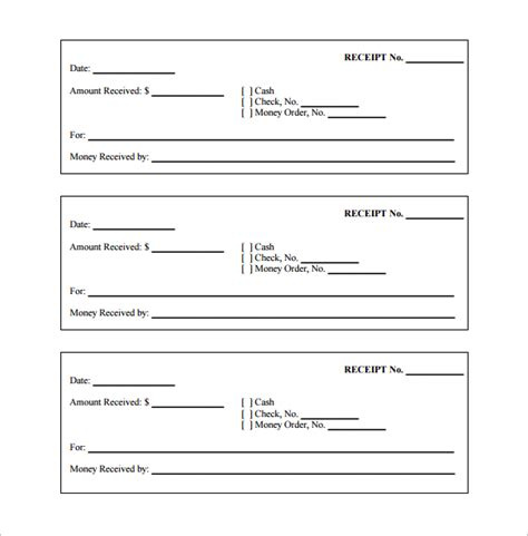 money receipt template 28 free word excel pdf format