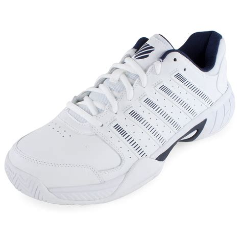white leather tennis shoes k swiss s express leather tennis shoes white and navy